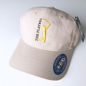 Ahead The Players Mid-Fit Khaki Golf Hat NWT
